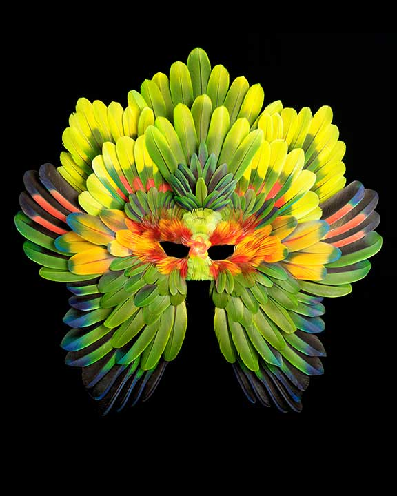 Tropicana feather mask